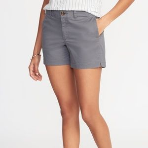 """Old Navy Mid-Rise Twill Everyday Shorts 5"""" Sz:14"""